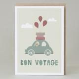 'Bon voyage' Card