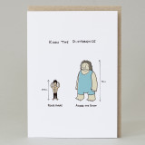 'Know The Difference between Peter Andre & Andrew the Giant ' Card