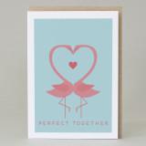 'Flamingo pair' Card