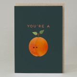 """You're a peach""Card"