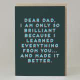"""Dear dad. . .""Card"