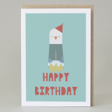 Happy Birthday (gull & cake) Card