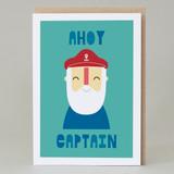 'Ahoy Captain' Birthday Card