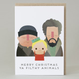 'Filthy Animals' Christmas Card