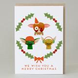 Christmas Monsters Christmas Card