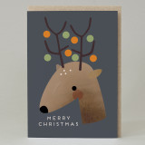 Reindeer Baubles Christmas Card