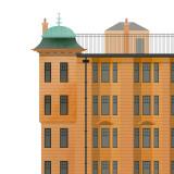 Camphill Gate Architectural Small Print