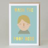 'Wash The Poop Deck' Card