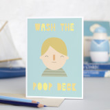 'Wash The Poop Deck' Card