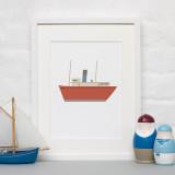 ALOTOW: Boat Print II