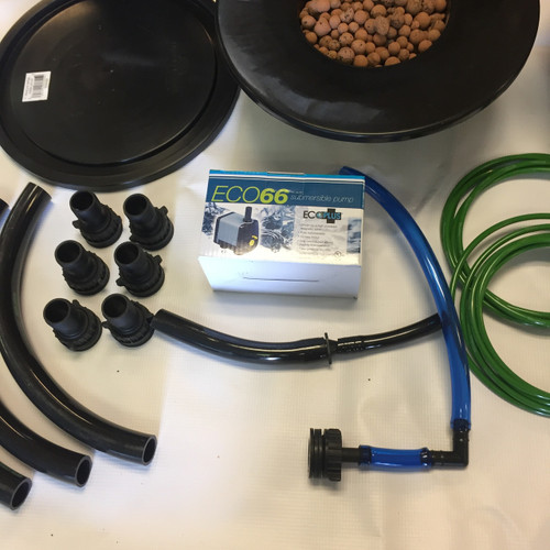 DIY 2 Plant Stirponic RDWC System COMPLETE KIT (NOT DRILLED)