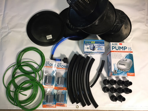 DIY 2 Plant Stirponic RDWC System COMPLETE KIT (NOT DRILLED) - PA