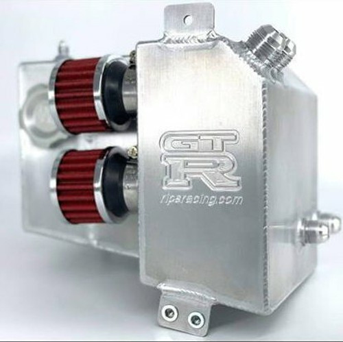 Rips Racing R32 GTR Catch Can with Coolant Overflow Tank