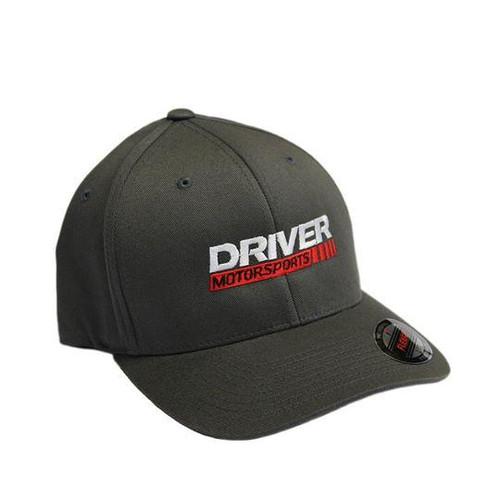 Driver Motorsports Embroidered Grey FLEXFIT Hat