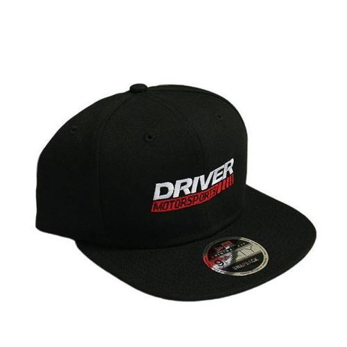 Driver Motorsports Embroidered Black SNAPBACK Hat
