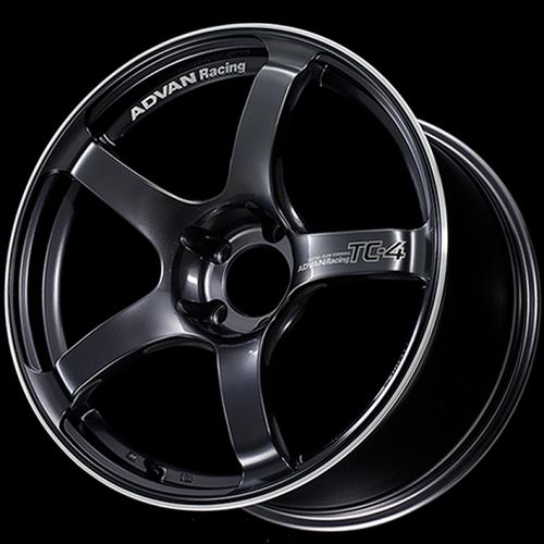 Advan TC4 18x9.5 +12 5-114.3 Racing Gunmetallic and Ring Wheel