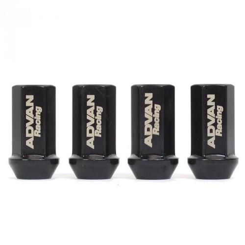 Advan Lug Nut 12X1.25 (Black) - 4 Pack