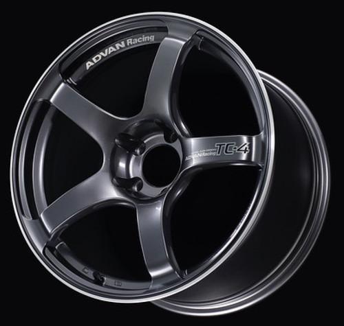 Advan TC4 17x8.0 +38 5-114.3 Racing Gunmetallic & Ring Wheel
