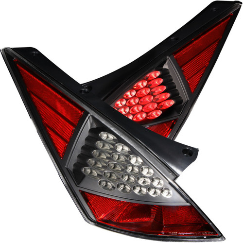 ANZO 2003-2005 Nissan 350Z LED Taillights Black