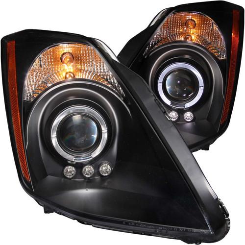 ANZO 2003-2005 Nissan 350Z Projector Headlights w/ Halo Black