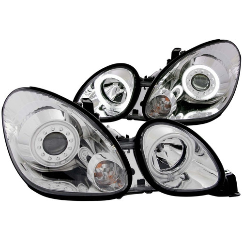 ANZO 1998-2005 Lexus GS300 Projector Headlights w/ Halo Chrome
