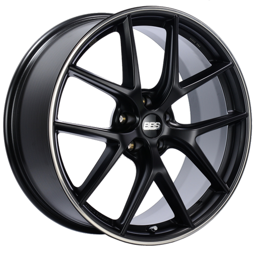 BBS CI-R 20x8.5 5x114.3 ET40 Satin Black Polished Rim Protector Wheel -82mm PFS/Clip Required