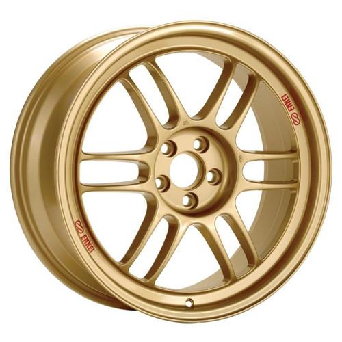 Enkei RPF1 17x9 5x114.3 45mm Offset 73mm Bore Gold Wheel  RX8