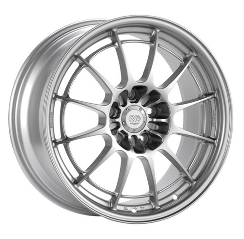 Enkei NT03+M 18x10.5 5x114.3 30mm Offset 72.6mm Bore Silver Wheel