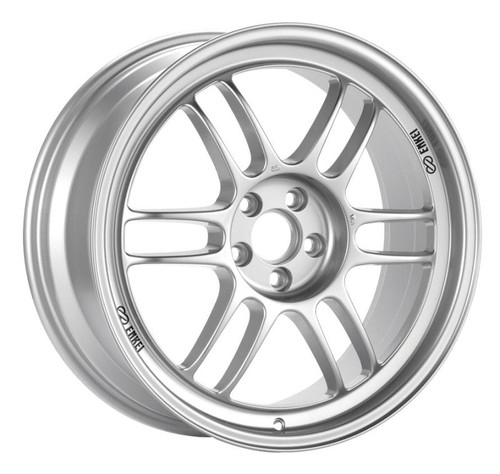 Enkei RPF1 18x9 5x114.3 35mm Offset 73mm Bore Silver Wheel G35/350z