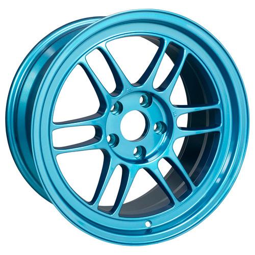 Enkei RPF1 17x9 5x114.3 22mm Offset 73mm Bore Emerald Blue Wheel