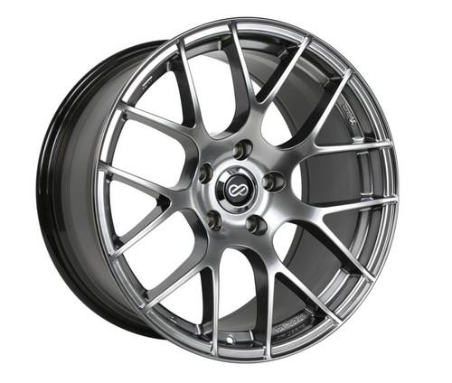 Enkei Raijin 18x9.5 35mm Offset 5x114.3 Bolt Pattern Hyper Silver Wheel