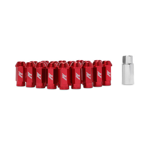 Mishimoto Aluminum Locking Lug Nuts M12 x 1.25 - Red