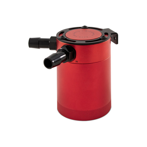 Mishimoto Compact Baffled Oil Catch Can - 2-Port - Red