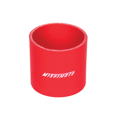Mishimoto 2.5 Inch Red Straight Coupler