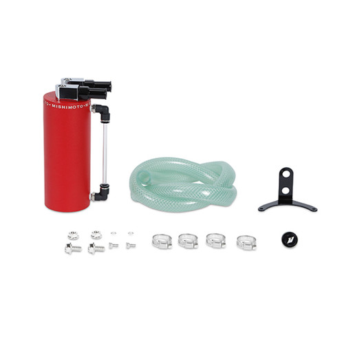 Mishimoto Small Aluminum Oil Catch Can - Wrinkle Red