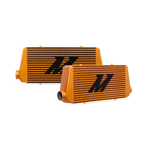 Mishimoto Universal Gold R Line Intercooler Overall Size: 31x12x4 Core Size: 24x12x4 Inlet / Outlet