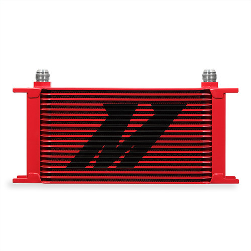 Mishimoto Universal 19 Row Oil Cooler - Red