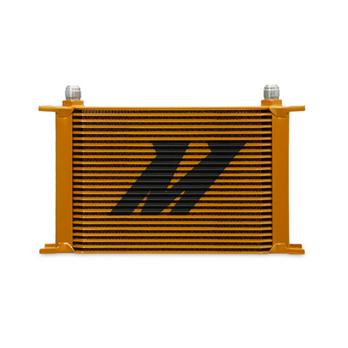 Mishimoto Universal 25-Row Oil Cooler - Gold