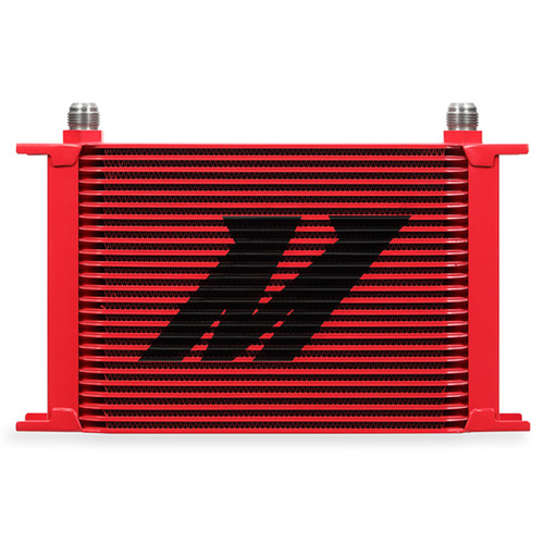 Mishimoto Universal 25 Row Oil Cooler - Red