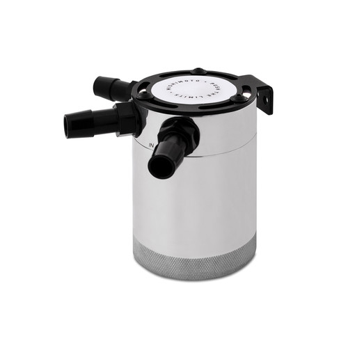 Mishimoto Compact Baffled Oil Catch Can - 3-Port - Polished