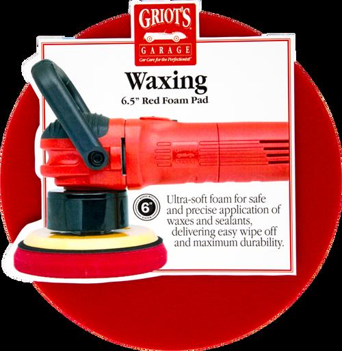 Griots Garage Red Foam Waxing Pad 6.5in
