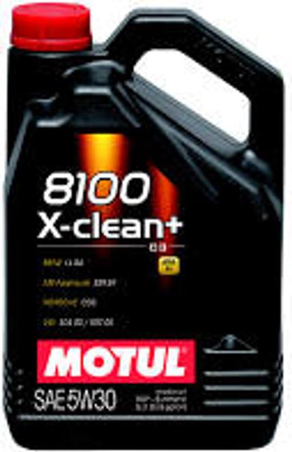 Motul 5L Synthetic Engine Oil 8100 5W30 X-CLEAN Plus