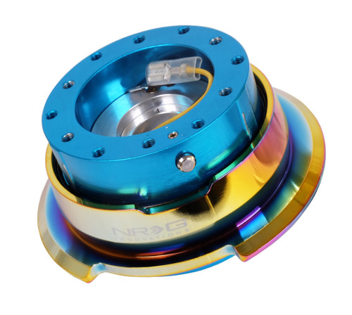 NRG Quick Release Gen 2.8 - New Blue Body / Neochrome Ring