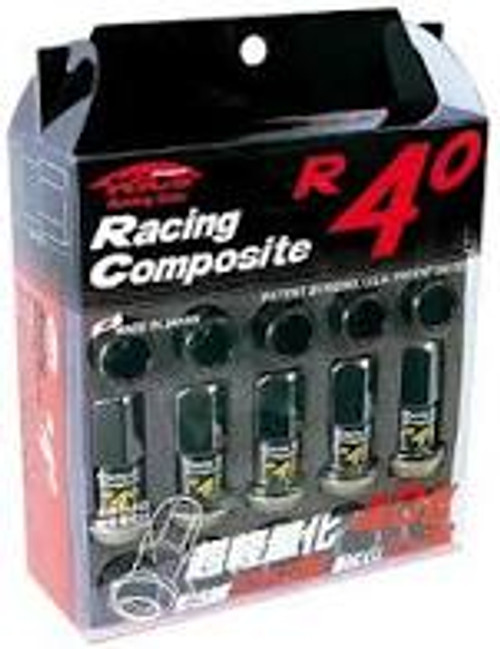 Project Kics 12x1.25 R40 Lug Nuts - Black (20 Pcs)