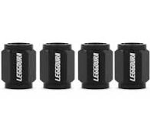 Project Kics Leggdura Racing Valve Cap Set Black