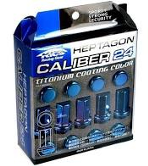 Project Kics 12X1.25 Titanium Blue Caliber Lug Nut