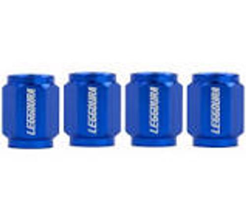 Project Kics Leggdura Racing Valve Cap Set Blue