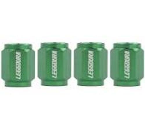 Project Kics Leggdura Racing Valve Cap Set Green