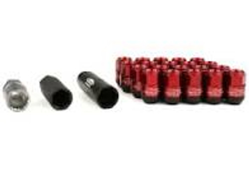 Project Kics Leggdura Racing Shell Type Lug Nut 35mm Closed-End Look 16 Pcs + 4 Locks 12X1.5 Red