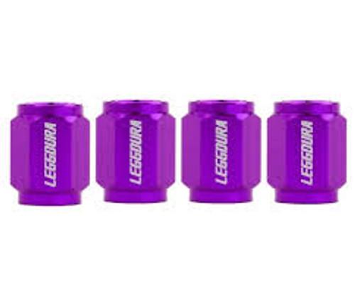 Project Kics Leggdura Racing Valve Cap Set Purple